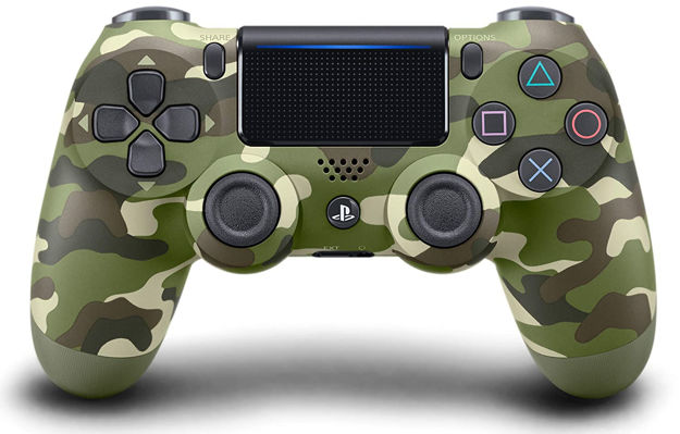 תמונה של PS4 DUALSHOCK 4 WIRELESS CONTROLLER- GREEN CAMOUFLAGE - שלט ירוק הסוואה