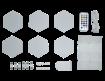 תמונה של DRAGON RGB MODULAR LED BRICK RF RC- לבני תאורה דקורטיביים.